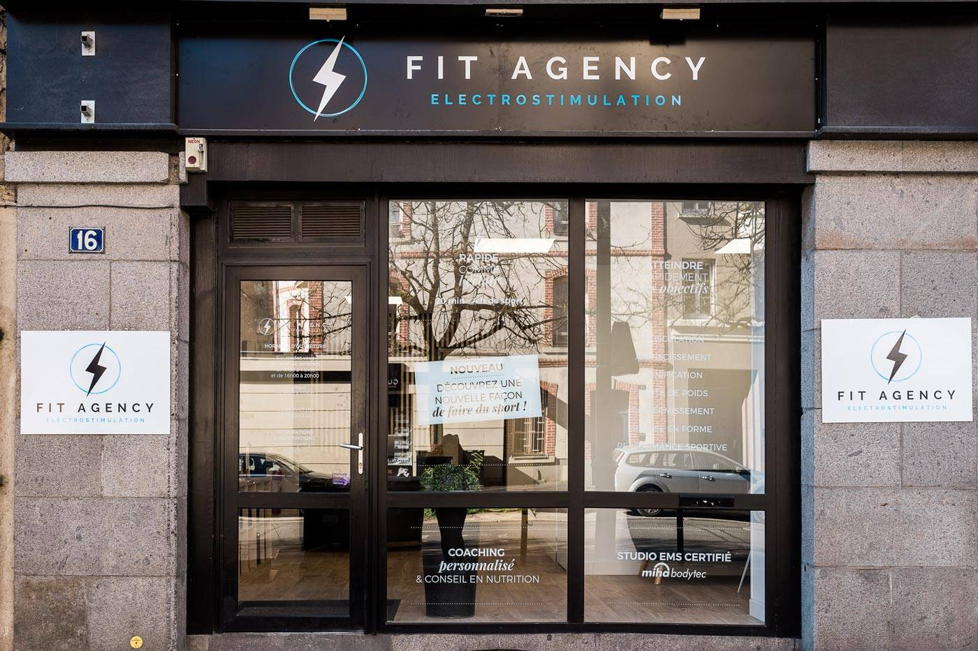 Devanture studio fit agency rennes